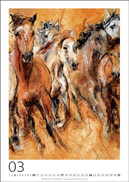 horse art calendar Kerstin Tschech