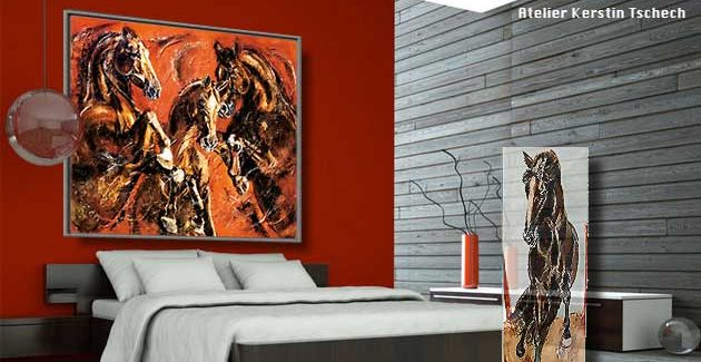 Horse Art Print on Canvas