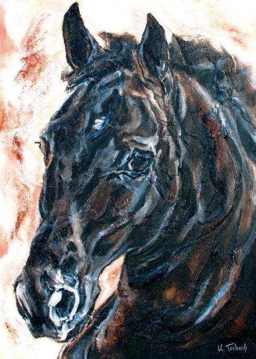 Horse Art Prints, Horse Painting, Equestrian Art, Horse Calendar, KerstinTschech